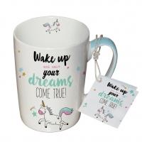 Porzellan-Tasse - Aufwachen