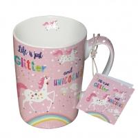 Porzellan-Tasse - Glitter & Unicorns