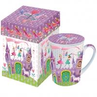 Tasse mit Deckel Princess Castle