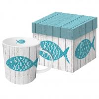 Porzellan-Henkelbecher - Cabana Fish