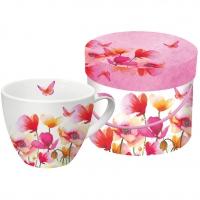 Porzellan-Tasse Aquarell Poppies