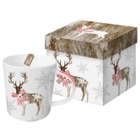 Porzellan-Henkelbecher - Land Weihnachten