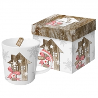 Porzellan-Henkelbecher - Trend Mug GB Country Xmas Home