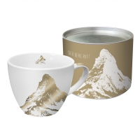 +*)Porzellan-Tasse - Matterhorn