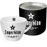 Porzellan-Tasse Super Man