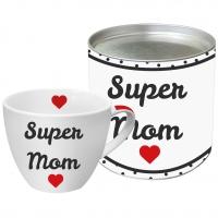 Porzellan-Tasse Super Mom