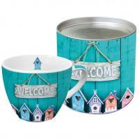 Porzellan-Tasse Welcome Home