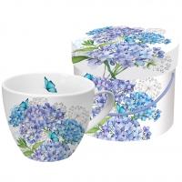 +*)Porzellan-Tasse Hydrangea Provencale