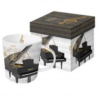 Porzellan-Henkelbecher - Concerto Piano