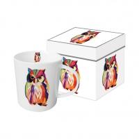 Porzellan-Henkelbecher - Leros Owl
