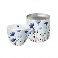 Porzellan-Tasse Aquarell Cornflower