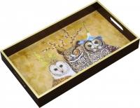 Tablett - Owl Family
