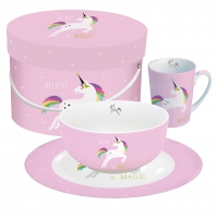 Breakfast Set - Breakfast Set GB Pink Unicorn