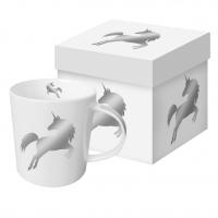Porzellan-Henkelbecher - Silver Unicorn