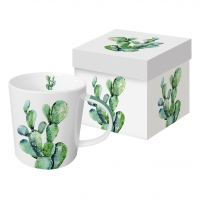 Porzellan-Henkelbecher - Cactus