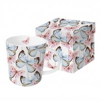 Porzellan-Henkelbecher - Butterfly Dream