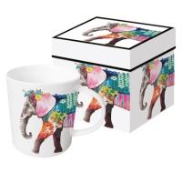 Porzellan-Henkelbecher - Regalia Elephant