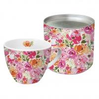 +*)Porzellan-Tasse - Rosenblüten