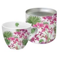 Porzellan-Tasse - Orchids & Palms