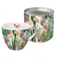 +*)Porzellan-Tasse Cactus Fantasy