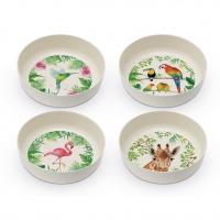 Bambus Schalen - Bamboo Bowls Tropical Set of 4