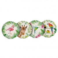 Bambus Teller - Tropical Set of 4