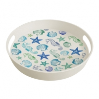 Tablett - Bamboo Tray Aquarell Beach