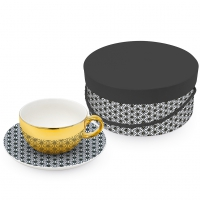 Reflecting Tasse - Ginza black real gold