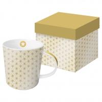 +*)Porzellan-Henkelbecher - Ginza Gold echtes Gold