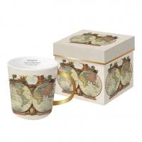 Porzellan-Henkelbecher - Mondo real gold