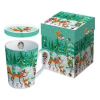 Tasse mit Deckel - Festive Animals