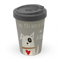 Bamboo mug To-Go -  Love and Dog