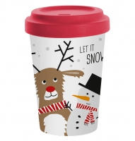 Bamboo mug To-Go - Snow Friends