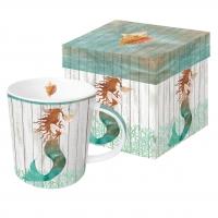 Porzellan-Henkelbecher - Waterside Mermaid