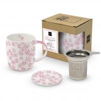 Tee-Tassen - Lid & Strainer cardboard Pretty in Rosé