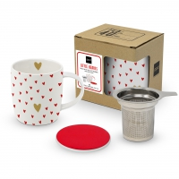 Tee-Tassen - Strainer Little Hearts real gold