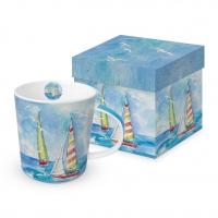Porzellan-Henkelbecher - Sailing