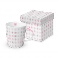 Porzellan-Henkelbecher - Minimal Blumen rosé