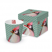 Porzellan-Henkelbecher - Oiseau Japonais