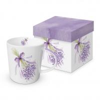 Porzellan-Henkelbecher - Lavendel