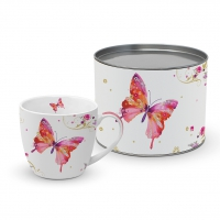 Porzellan-Tasse - Pretty Butterfly