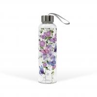Glasflasche - Butterfly Splash