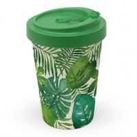 Bamboo mug To-Go - Feuilles Tropicales