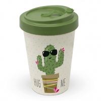 Bambusbecher To-Go - Umarme mich Kaktus