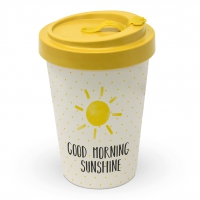 Bambusbecher To-Go - Guten Morgen Sonnenschein