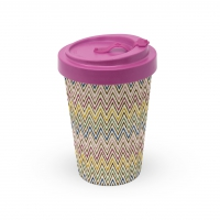 Bamboo mug To-Go - Zig Zag Multicolore