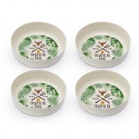 Bambus Schalen - Bamboo Bowls Tropical BBQ Set of 4