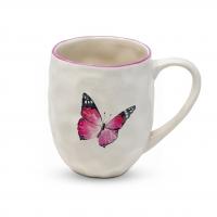 Porzellan-Henkelbecher - Organic Tropical Butterfly