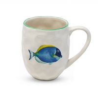 Porzellan-Henkelbecher - Organic Tropical Fish