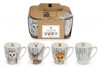Porzellan-Henkelbecher - Mugs Its Winter again Set of 4